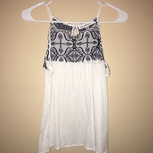 Abercrombie & Fitch Blue and White Tank Blouse